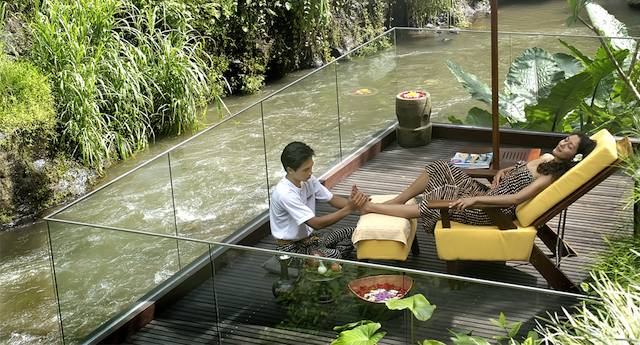 Maya Ubud Spa Riverside Deck