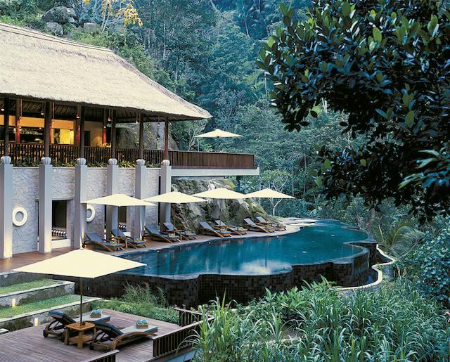 Spa pool at Maya Ubud
