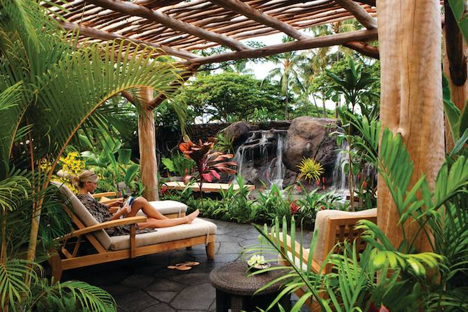 Private Garden at Hualalai Spa