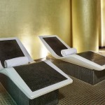 Relaxation beds at Crowne Plaza Battersea Spa Verta