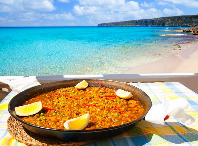 Paella at Ibiza Restaurant
